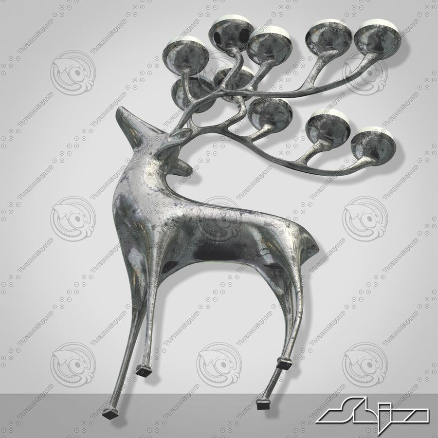 Candlestick Deer royalty-free 3d model - Preview no. 4