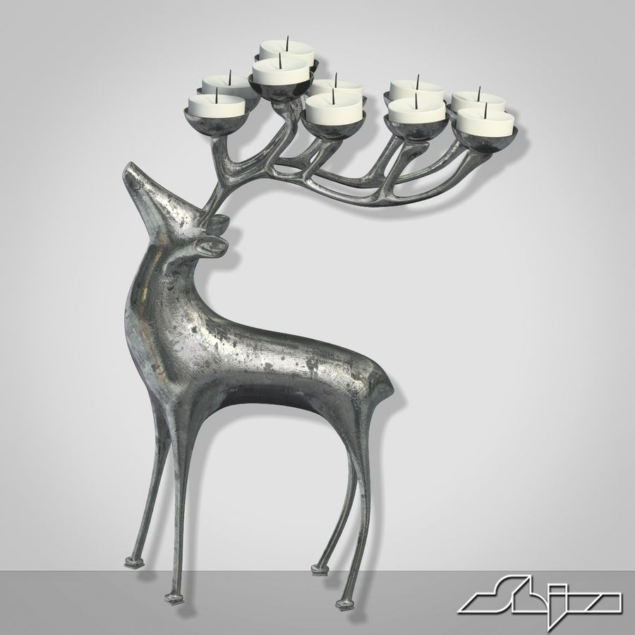 Candlestick Deer royalty-free 3d model - Preview no. 1
