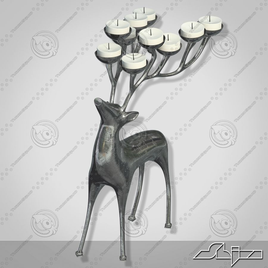 Candlestick Deer royalty-free 3d model - Preview no. 3