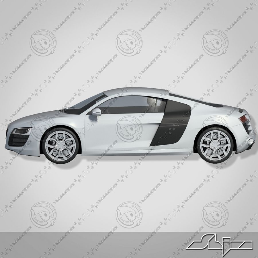 Auto Audi R8 royalty-free 3d model - Preview no. 4
