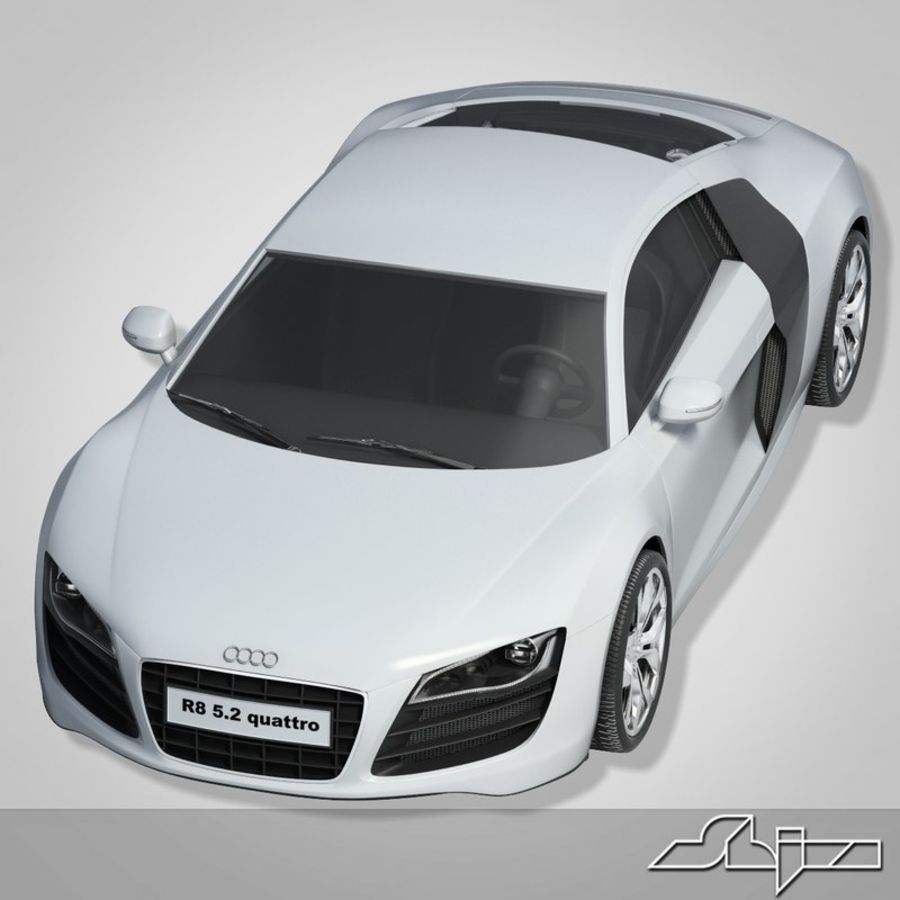Auto Audi R8 royalty-free 3d model - Preview no. 1