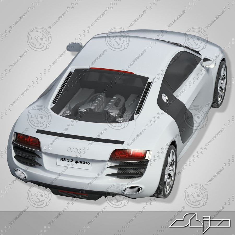 Auto Audi R8 royalty-free 3d model - Preview no. 2