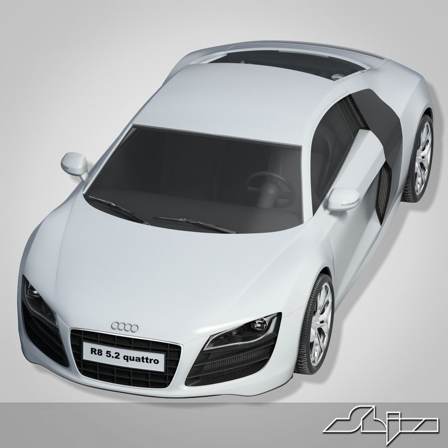 Macchina Audi R8 royalty-free 3d model - Preview no. 1