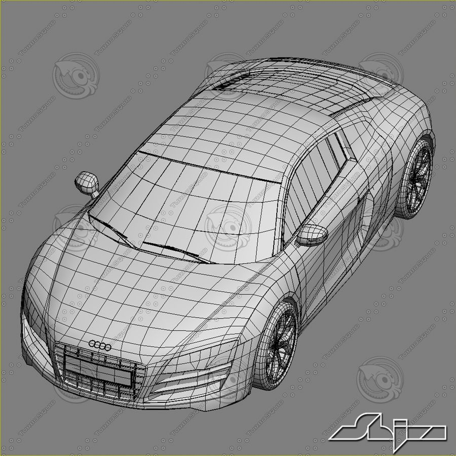 Auto Audi R8 royalty-free 3d model - Preview no. 7