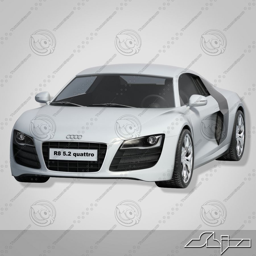 Auto Audi R8 royalty-free 3d model - Preview no. 3