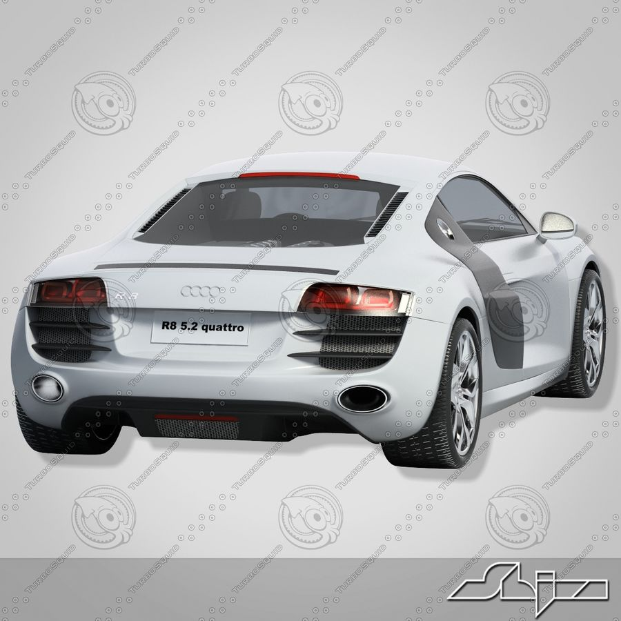 Auto Audi R8 royalty-free 3d model - Preview no. 5
