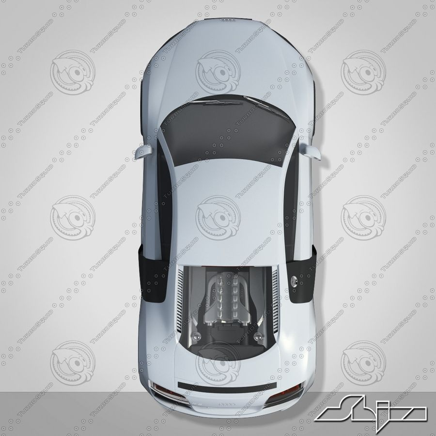 Auto Audi R8 royalty-free 3d model - Preview no. 6
