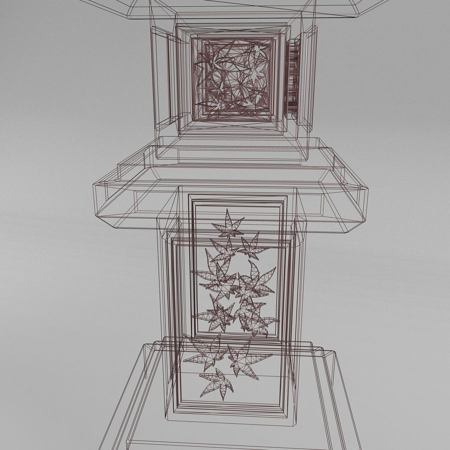 Tachi Gata Blatt royalty-free 3d model - Preview no. 8
