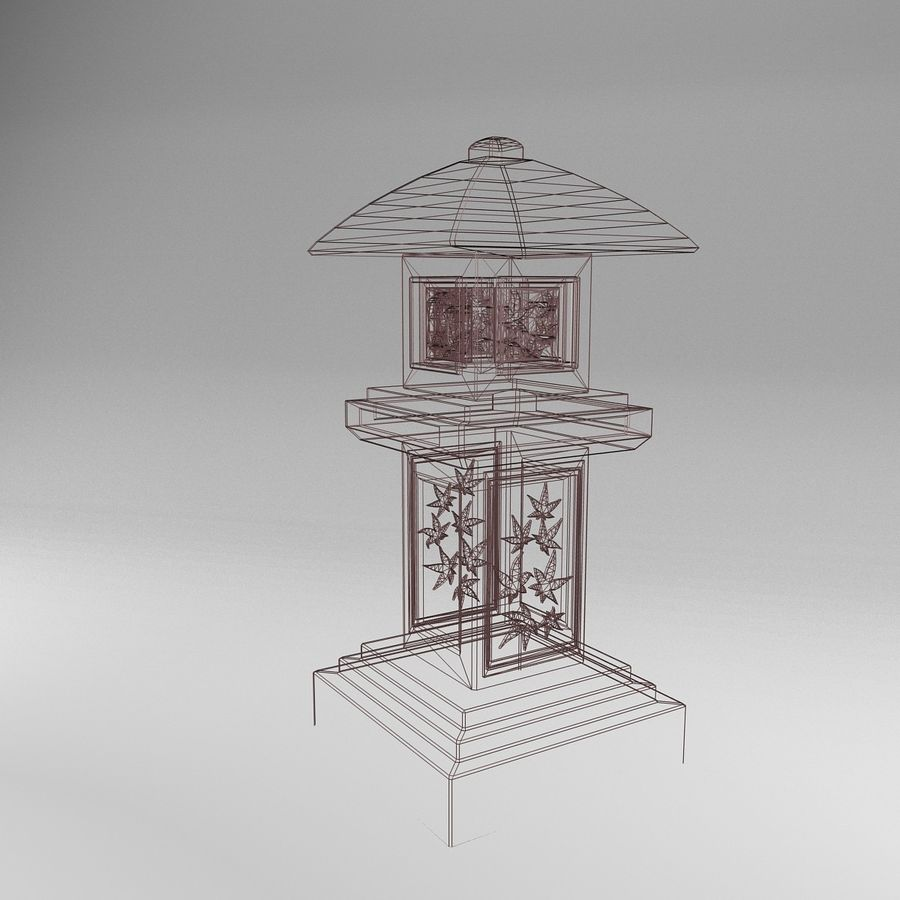 Tachi Gata Blatt royalty-free 3d model - Preview no. 5