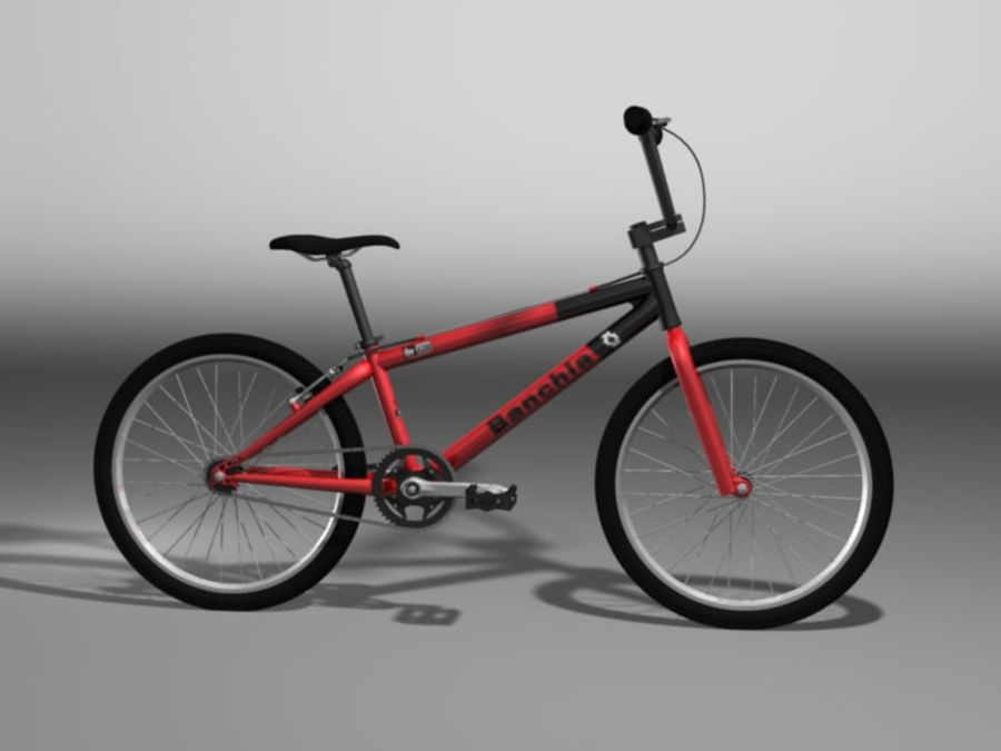 BMX Bicycle royalty-free 3d model - Preview no. 2