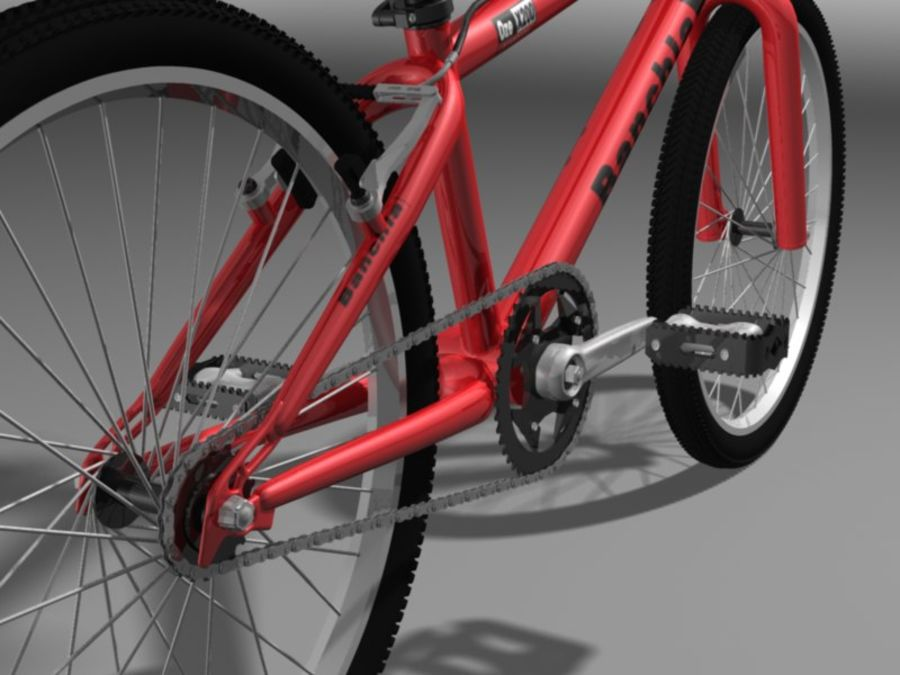 BMX Bicycle royalty-free 3d model - Preview no. 4