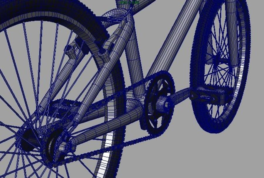 BMX Bicycle royalty-free 3d model - Preview no. 9