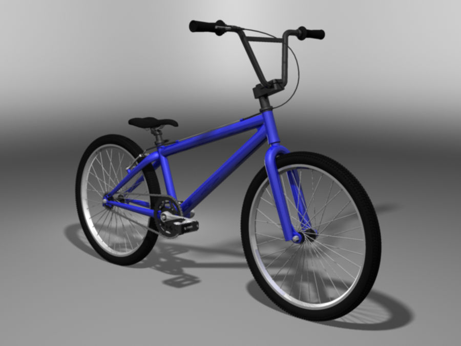 BMX Bicycle royalty-free 3d model - Preview no. 7