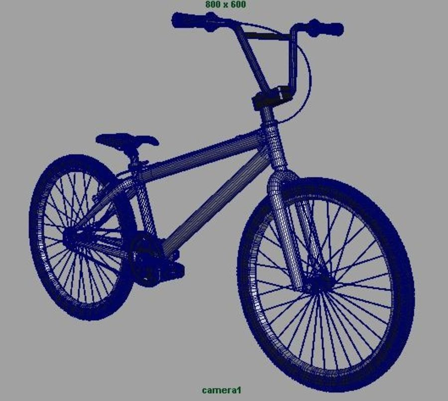 BMX Bicycle royalty-free 3d model - Preview no. 8