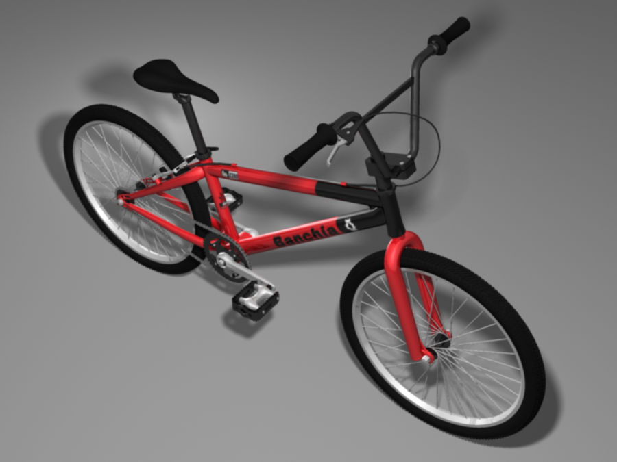 BMX Bicycle royalty-free 3d model - Preview no. 3