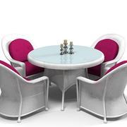 franswicker plymouth wicker matbordsstolstol klassisk traditionell 3d model