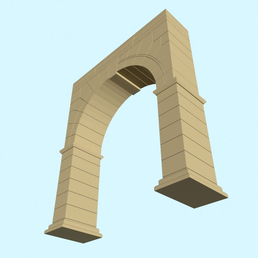 Arch 001 royalty-free 3d model - Preview no. 4