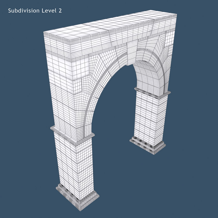 Arch 001 royalty-free 3d model - Preview no. 10