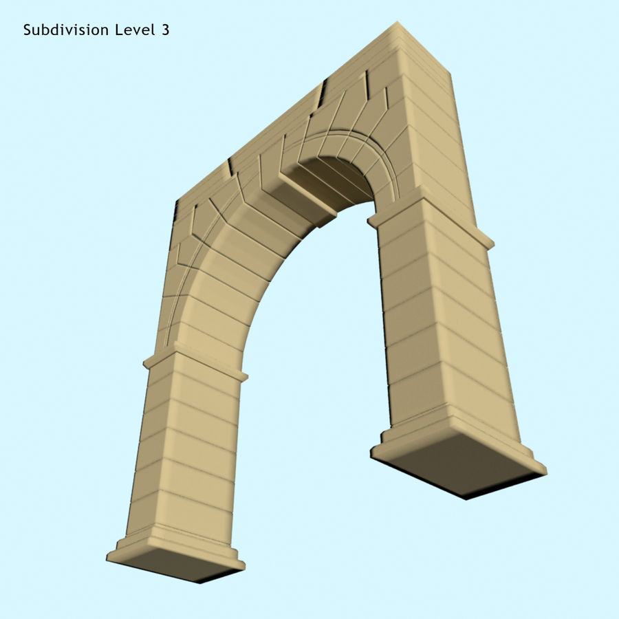 Arch 001 royalty-free 3d model - Preview no. 5