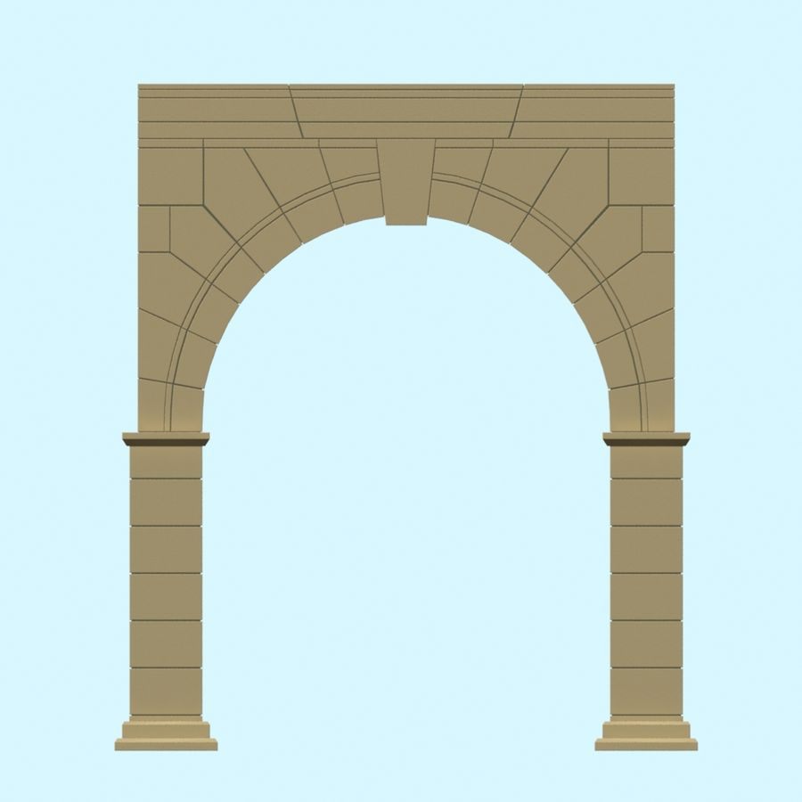 Arch 001 royalty-free 3d model - Preview no. 6