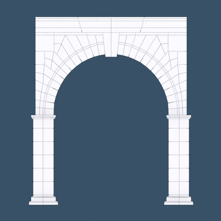 Arch 001 royalty-free 3d model - Preview no. 12