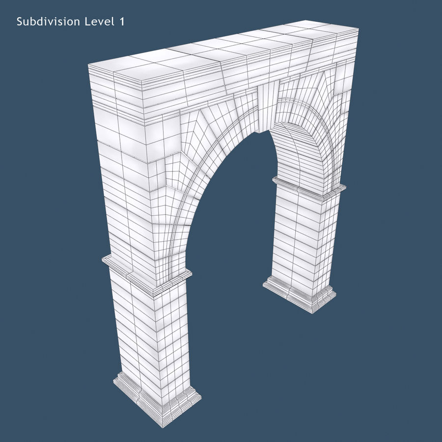 Arch 001 royalty-free 3d model - Preview no. 9