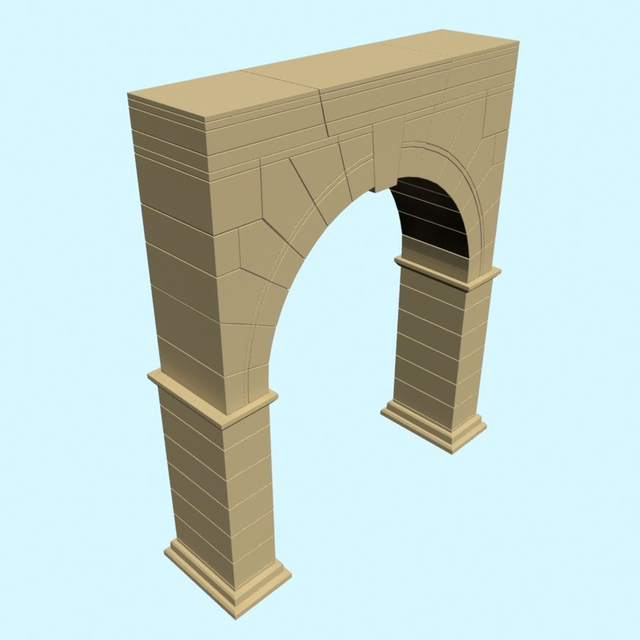 Arch 001 royalty-free 3d model - Preview no. 2