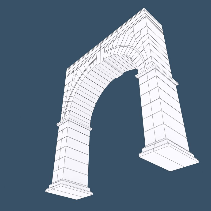 Arch 001 royalty-free 3d model - Preview no. 11