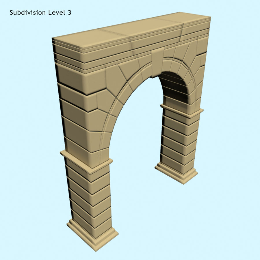 Arch 001 royalty-free 3d model - Preview no. 3