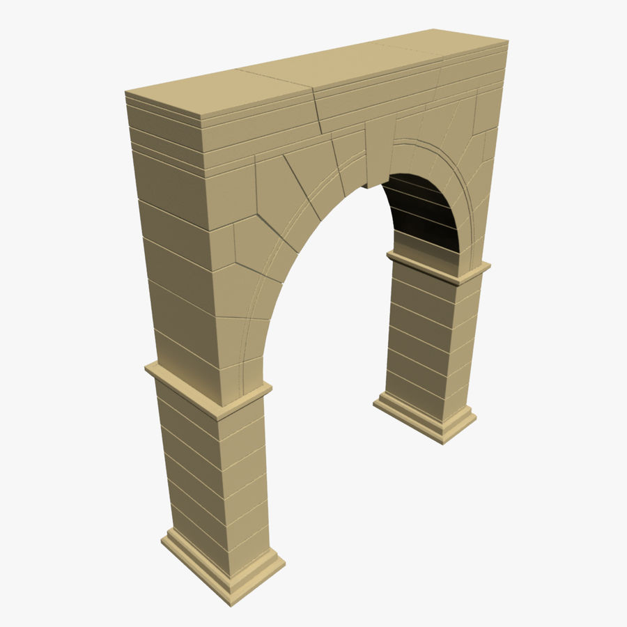 Arch 001 royalty-free 3d model - Preview no. 1