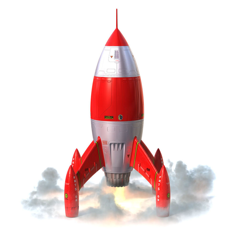 Rocket royalty-free 3d model - Preview no. 1