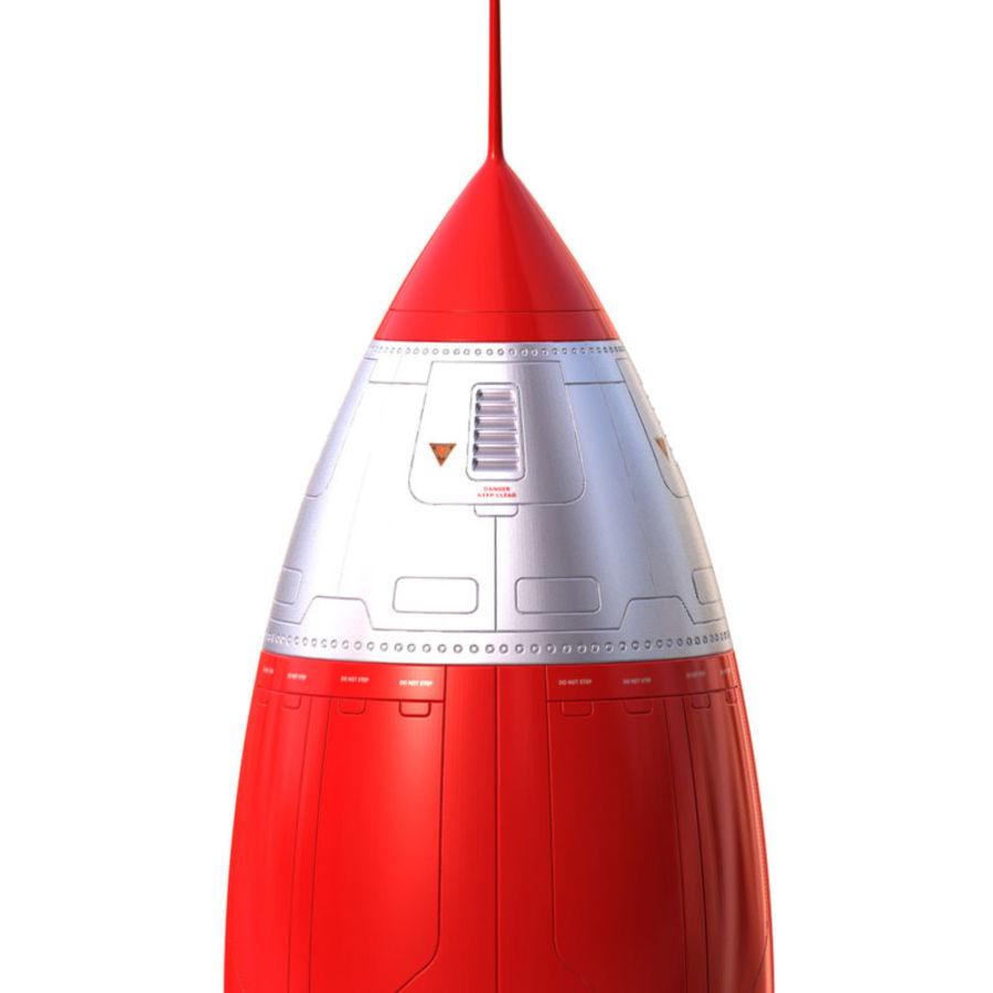 Rocket royalty-free 3d model - Preview no. 2