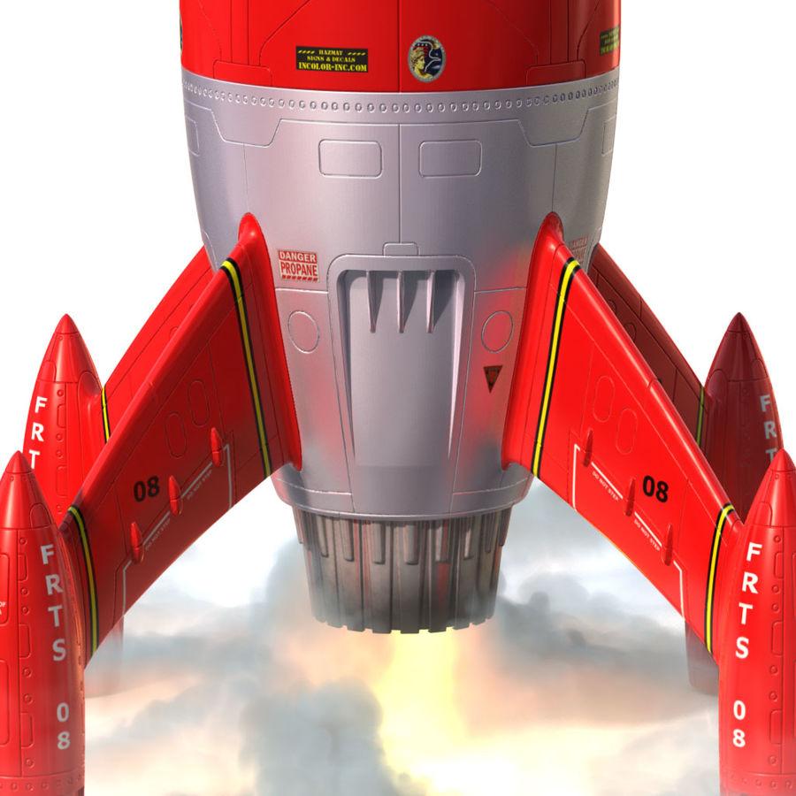 Rocket royalty-free 3d model - Preview no. 3