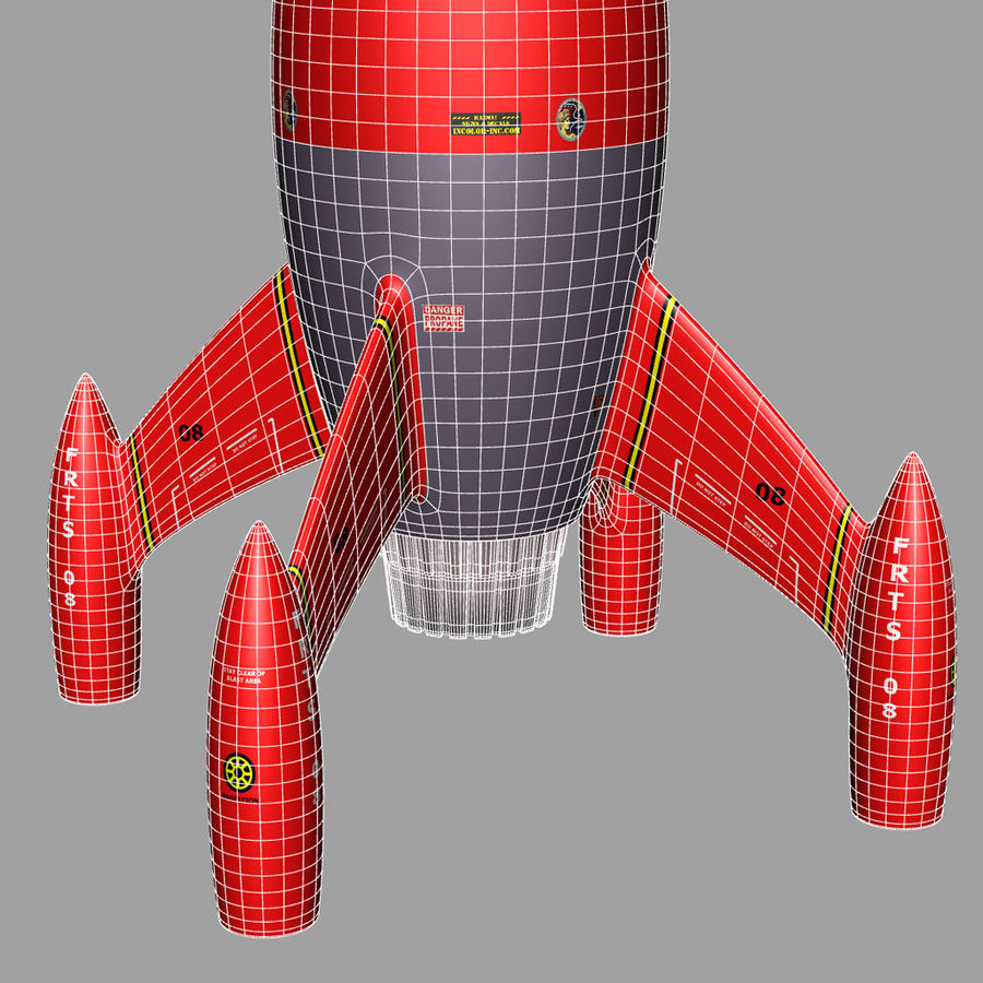 Rocket royalty-free 3d model - Preview no. 5