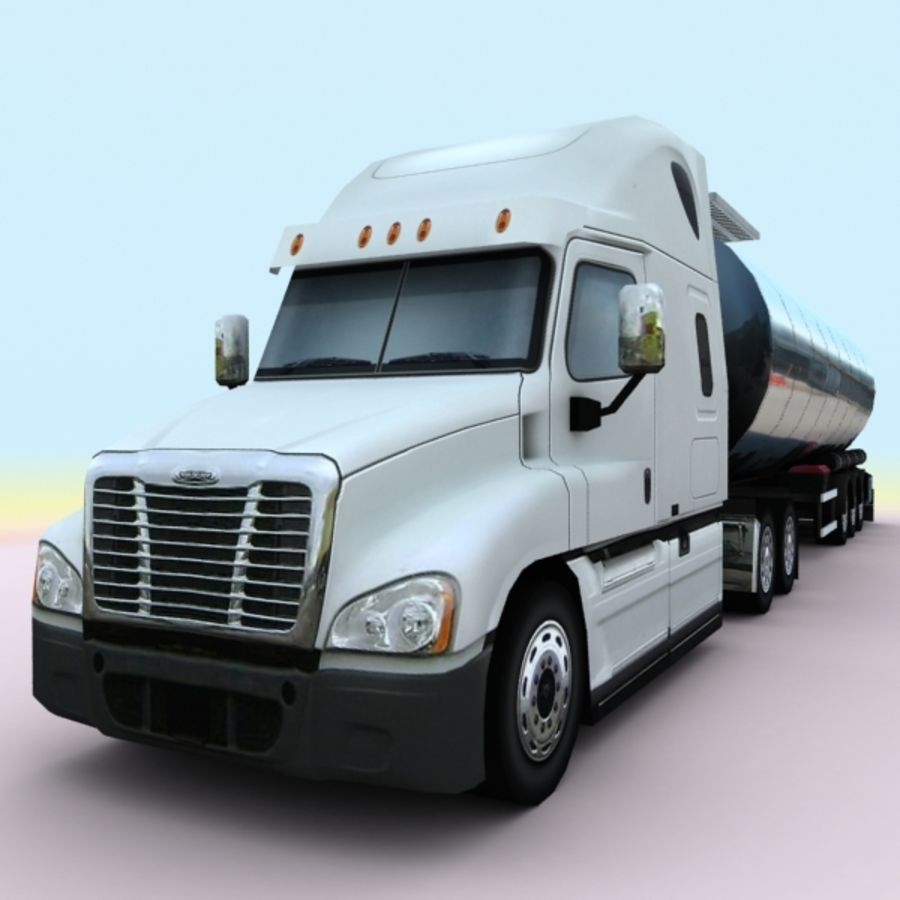 2011 Freightliner cascadia royalty-free 3d model - Preview no. 1