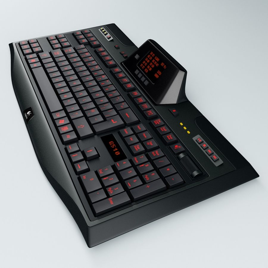 Gaming Keyboard Logitech G510 royalty-free 3d model - Preview no. 4