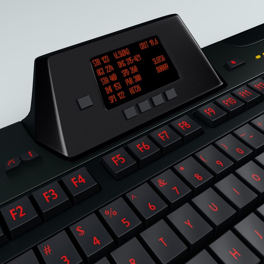 Gaming Keyboard Logitech G510 royalty-free 3d model - Preview no. 13