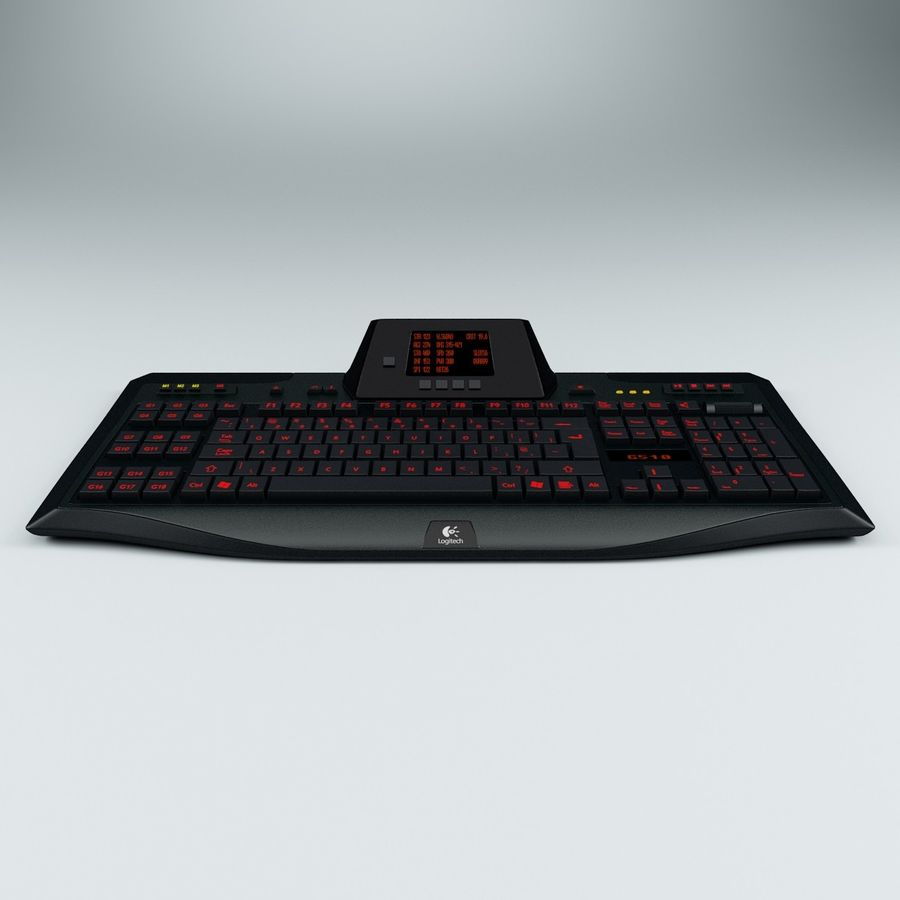 Gaming Keyboard Logitech G510 royalty-free 3d model - Preview no. 2