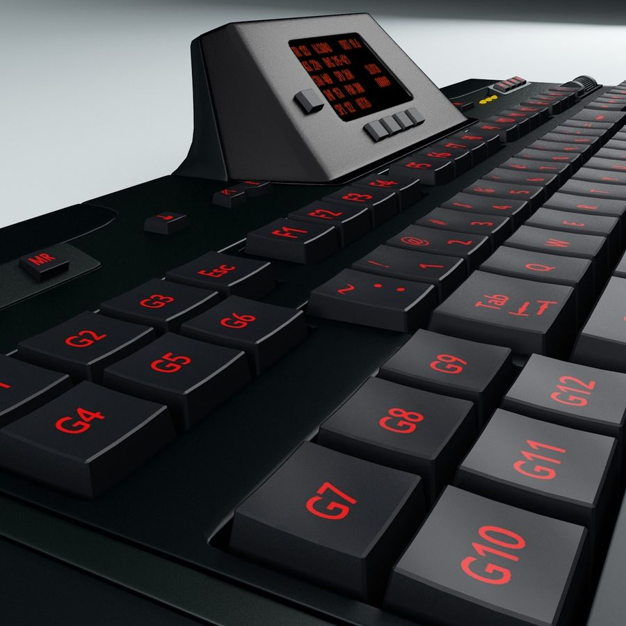 Gaming Keyboard Logitech G510 royalty-free 3d model - Preview no. 11