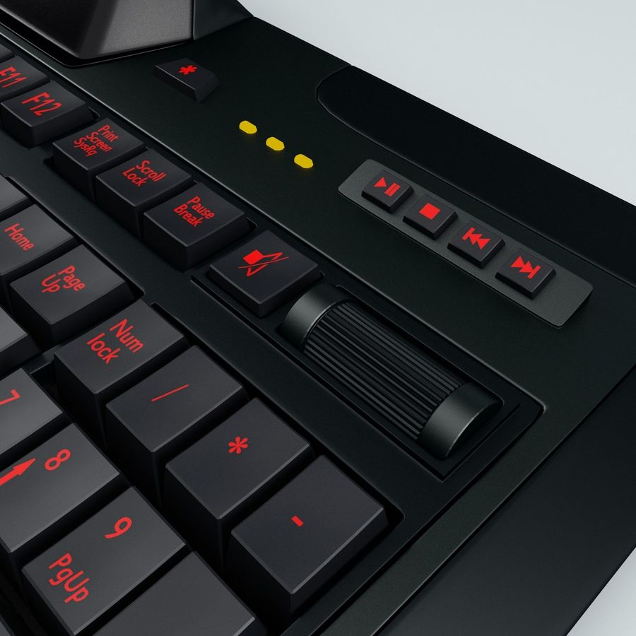 Gaming Keyboard Logitech G510 royalty-free 3d model - Preview no. 12