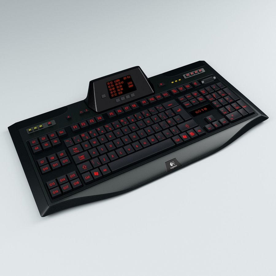Gaming Keyboard Logitech G510 royalty-free 3d model - Preview no. 3