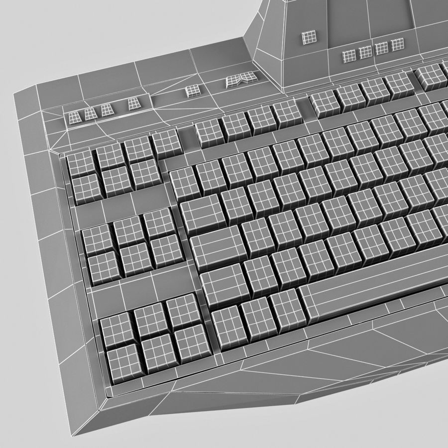 Gaming Keyboard Logitech G510 royalty-free 3d model - Preview no. 16