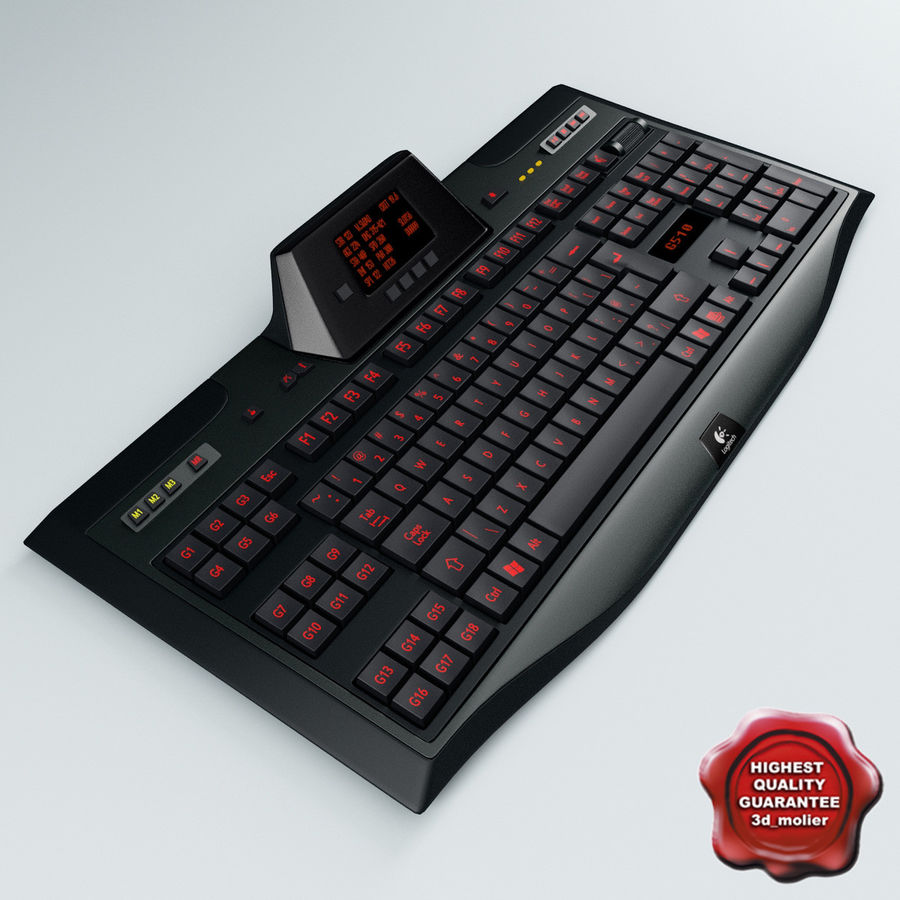 Gaming Keyboard Logitech G510 royalty-free 3d model - Preview no. 1