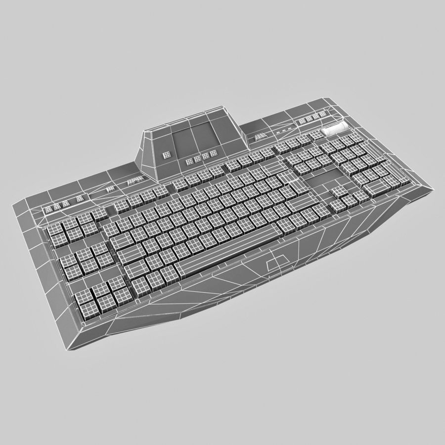 Gaming Keyboard Logitech G510 royalty-free 3d model - Preview no. 15