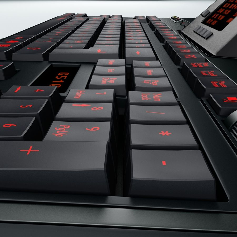 Gaming Keyboard Logitech G510 royalty-free 3d model - Preview no. 9