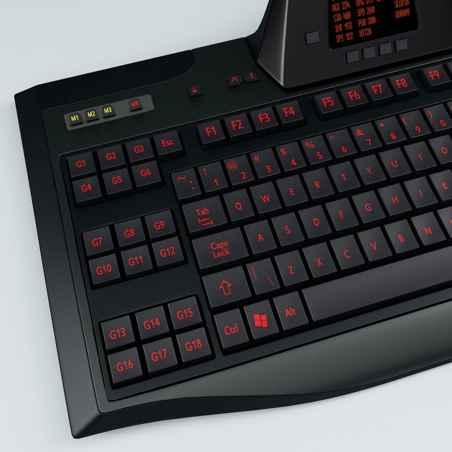 Gaming Keyboard Logitech G510 royalty-free 3d model - Preview no. 6