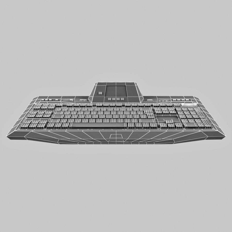 Gaming Keyboard Logitech G510 royalty-free 3d model - Preview no. 14