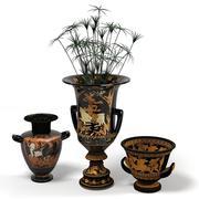 oriental classic eastern vase accent egypt jug planter plant 3d model