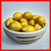 Citrons dans un bol - design 3d model