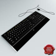 Logitech Illuminated Keyboard 3d model